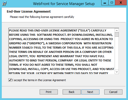 WebFront for Service Manager - Deployment Guide – Gridpro